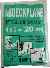 Abdeckfolie, HDPE, 4 x 5 m, 7 my
