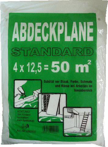 Abdeckfolie, HDPE, 4 x 12,5 m, 7 my