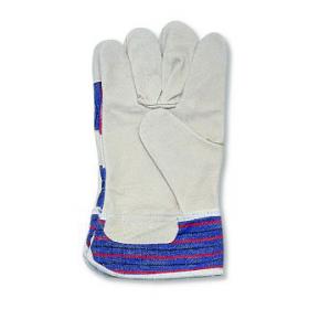 Handschuhe, Spaltleder, grau