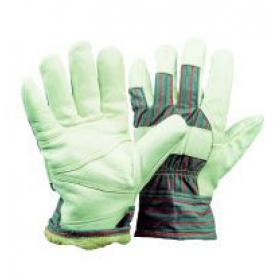 Polsterleder-Handschuhe, Webpelzfutter