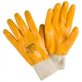 Handschuhe mit Vollnitrilbeschichtung, gelb