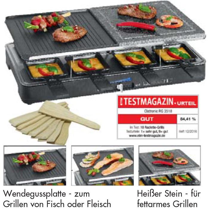 Raclette-Grill mit Wendegussplatte / Ab 499€