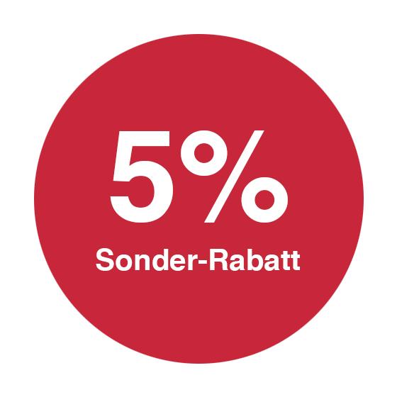 5% Sonder-Rabatt